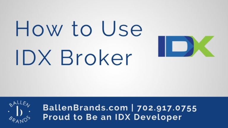 Simple Branding Card with IDX Broker Logo and the words How to Use IDX Broker in Blue