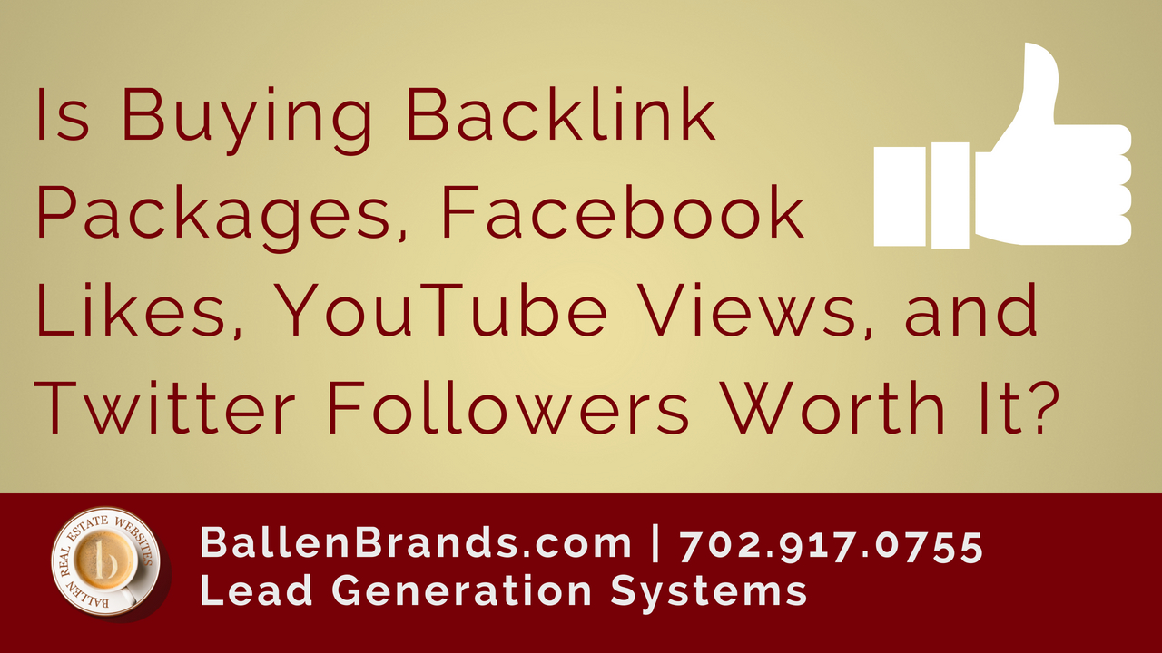 Is Buying Backlink Packages, Facebook Likes, YouTube Views, and Twitter Followers Worth It?