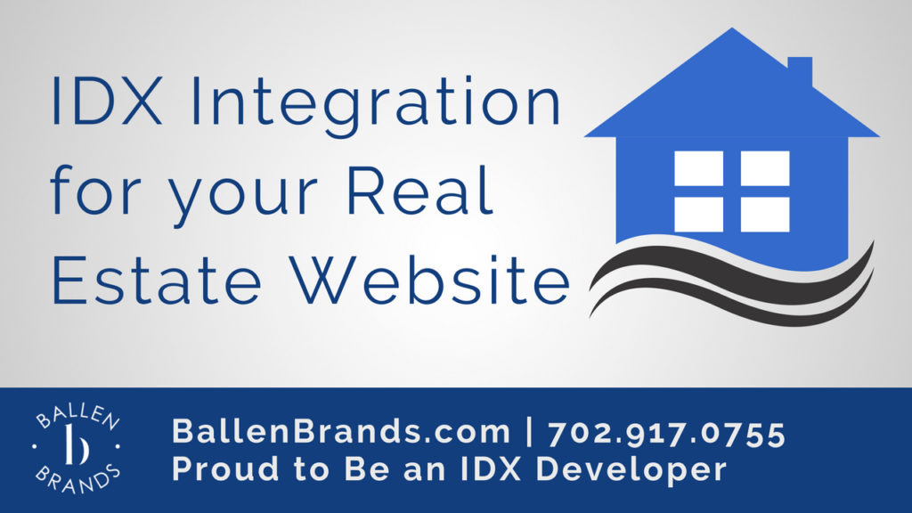 Photo Panel with a house icon and the words IDX ijntegration for your real estate website in blue