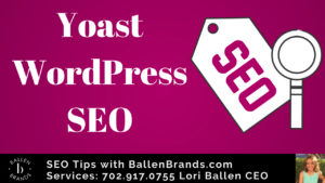 Yoast Wordpress SEO and a tag with SEO written in the yoast logo colors
