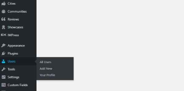 screenshot of wordpress dashboard showing users location