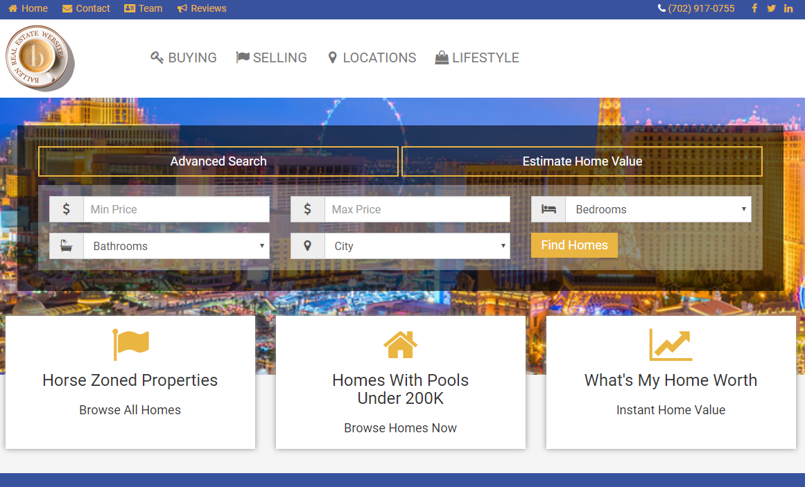 screenshot of BREW - Ballen Real Estate Website