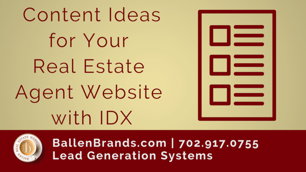 Content Ideas for Your Real Estate Agent Website with IDX