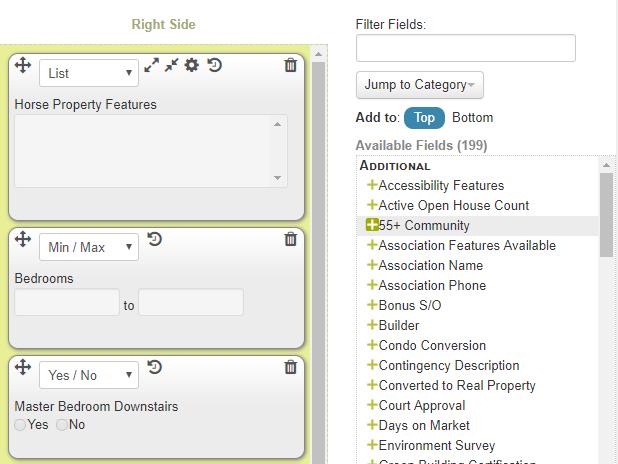 available fields in IDX Broker