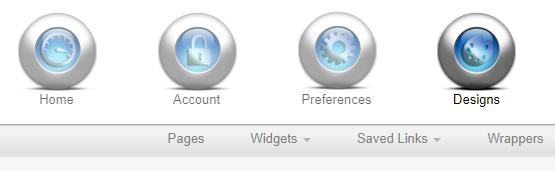 screenshot of IDX Broker menu
