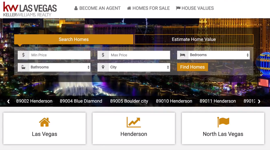 Ballen Las Vegas main page screenshot