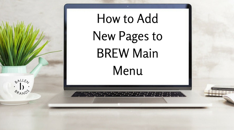 How to Add New Pages to BREW Main Menu