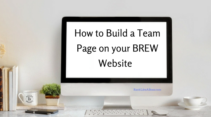 How to Create a Team Roster on your Ballen Real Estate Website [BREW]