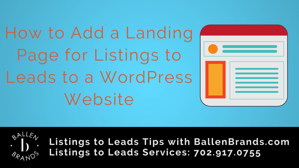 How to Add a Landing Page for Listing to Leads to a WordPress Website