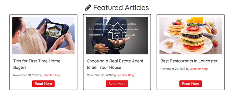 Featured Articles Sample