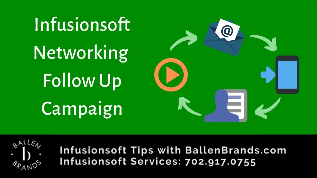 Infusionsoft Networking Follow Up Campaign