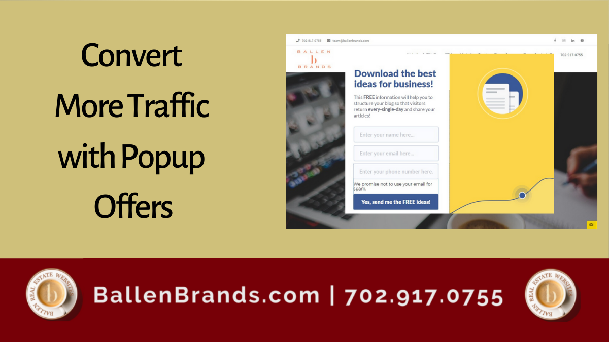 Convert More Traffic with Popup Offers