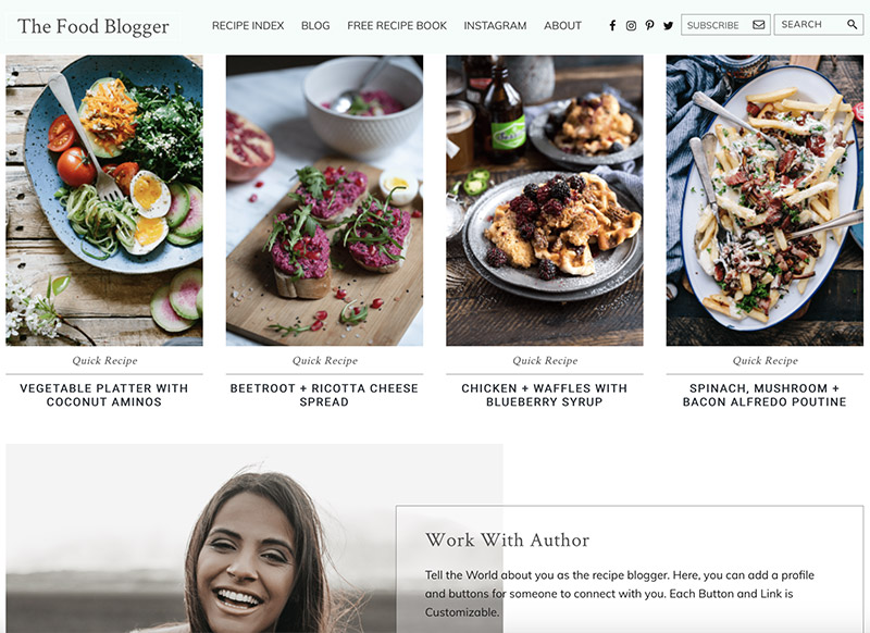 Food Blogger Theme