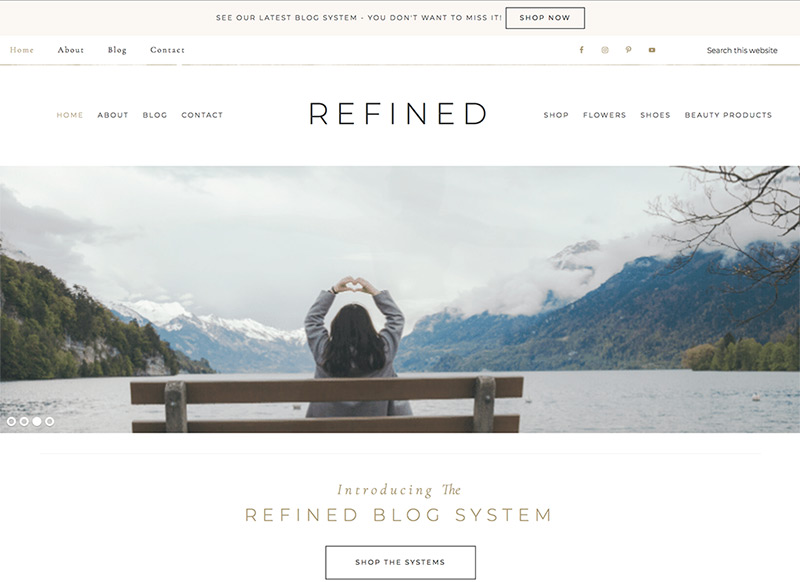 Refined Website Theme