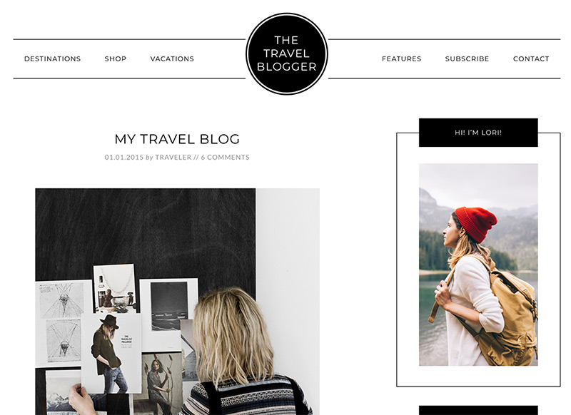 Travel Blogger Theme