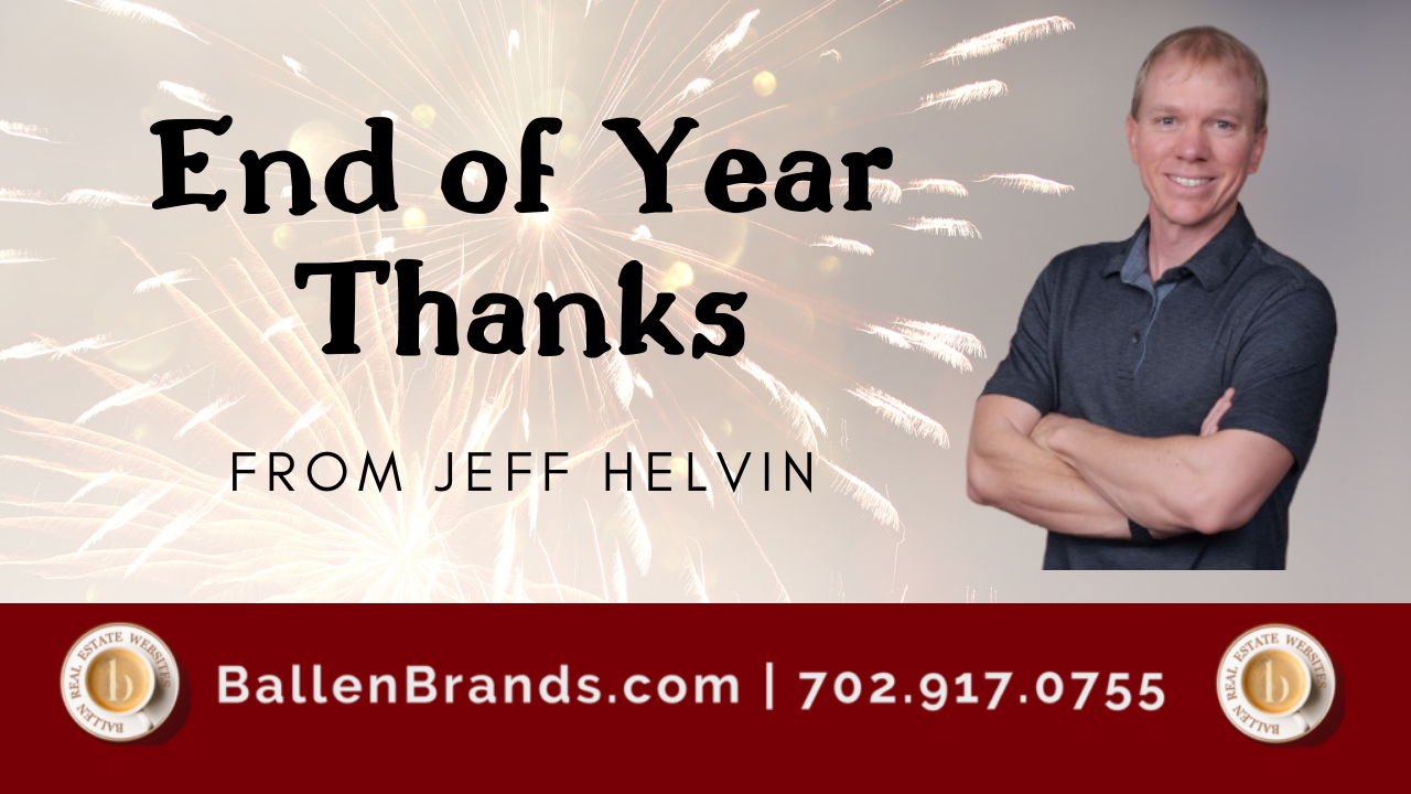 End of Year Thanks from Jeff Helvin
