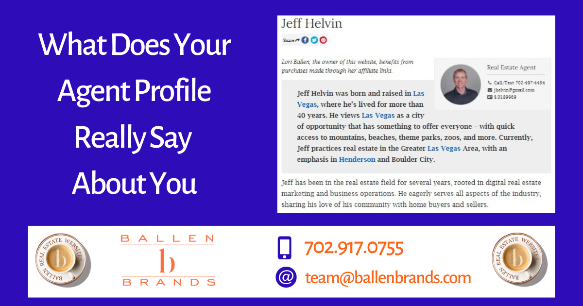 What Does Your Agent Profile Really Say About You
