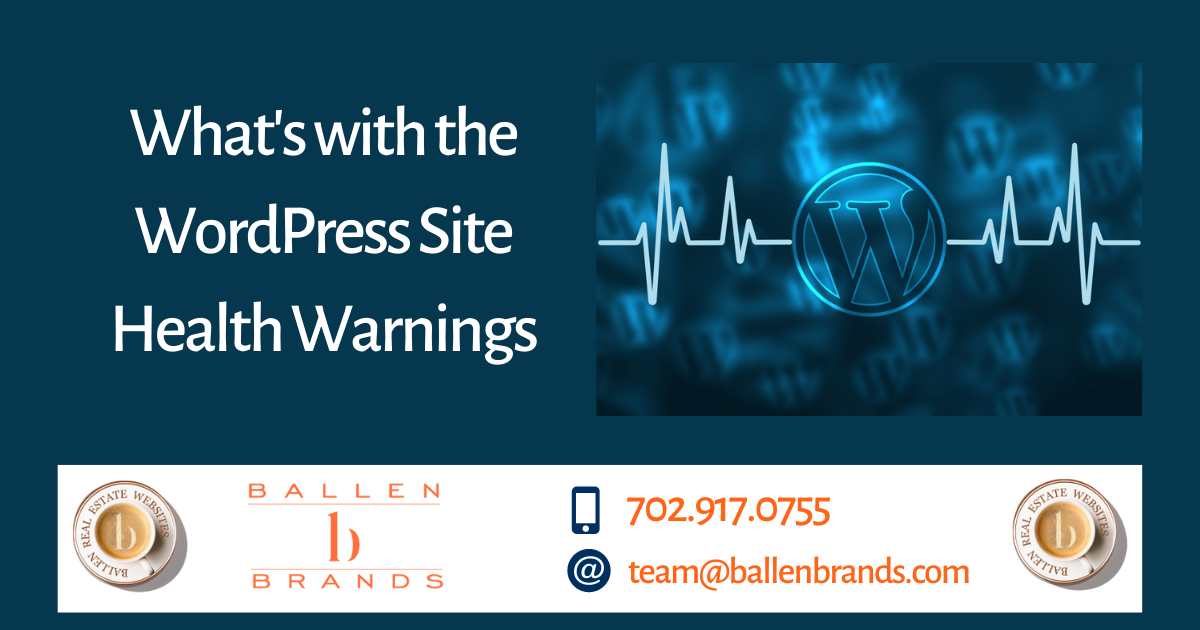 What's with the WordPress Site Health Warnings?
