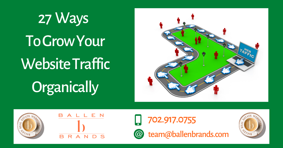 27 Ways to Grow Your Website Traffic Organically