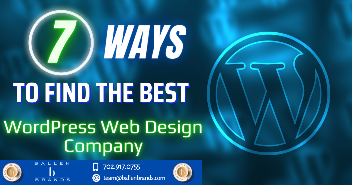 7 Ways to Find the Best WordPress Web Design Company [2021]